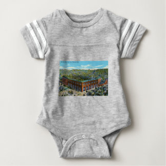 League Park Baseball Stadium Baby Bodysuit