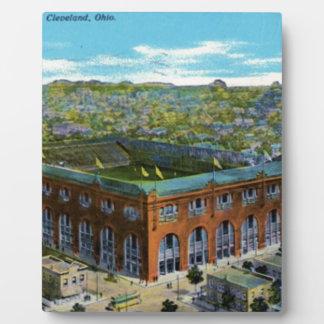 League Park Baseball Stadium Plaque