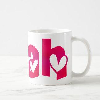 Leah in Hearts Coffee Mug