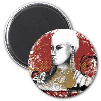 Leah Maasai Woman 6 Cm Round Magnet