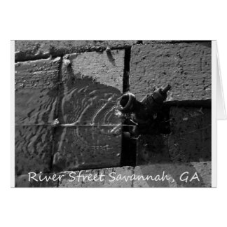 LEAKY SPIGOT RIVER STREET SAVANNAH GA GREETING CARD