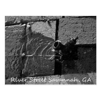 LEAKY SPIGOT RIVER STREET SAVANNAH GA POST CARD