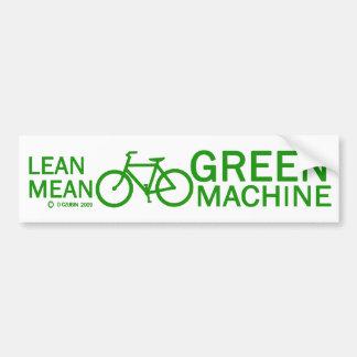 Lean Green Mean Machine Bumper Stickers