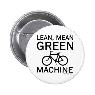 Lean Green Mean Machine Buttons