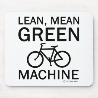 Lean Green Mean Machine Mouse Pad