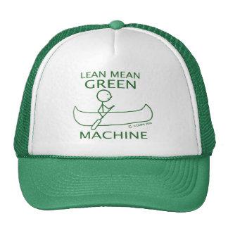Lean Mean Green Machine Canoe Hats