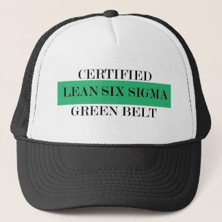 Lean Six Sigma Certified Green Belt Trucker Hat