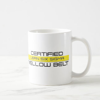 LEAN Six Sigma Yellow Belt Coffee Mug