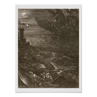 Leander Swims Over the Hellespont to Meet his Mist Poster