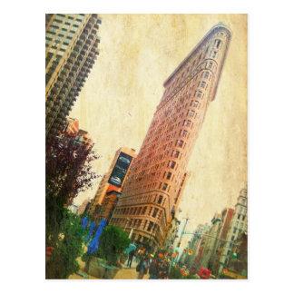 leaning Flatiron Building Postcard