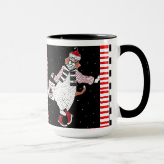 Leaning Santa Beagle Holiday Shopping Mug