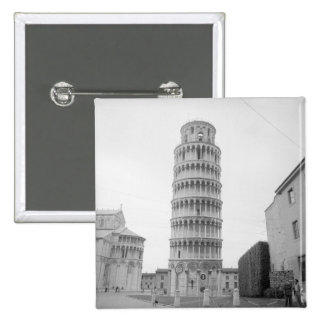 Leaning Tower of Pisa 15 Cm Square Badge