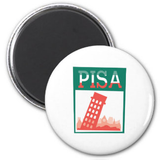 Leaning Tower of Pisa 6 Cm Round Magnet