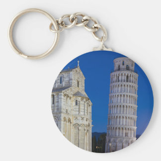 Leaning Tower of Pisa at night Key Ring