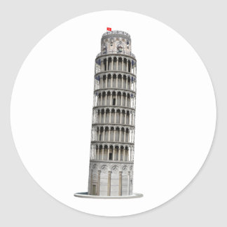 Leaning Tower of Pisa: Classic Round Sticker