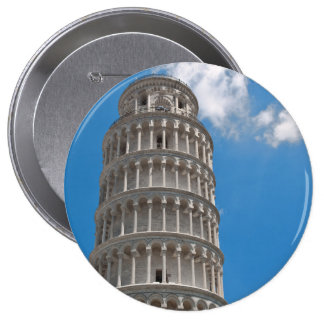 Leaning Tower of Pisa in Italy 10 Cm Round Badge