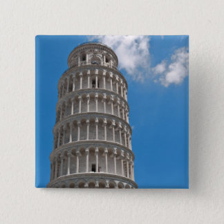 Leaning Tower of Pisa in Italy 15 Cm Square Badge