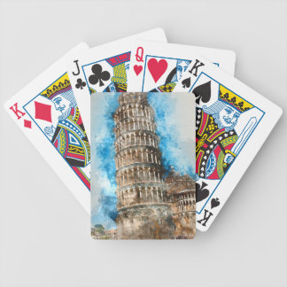 Leaning Tower of Pisa in Italy Bicycle Playing Cards
