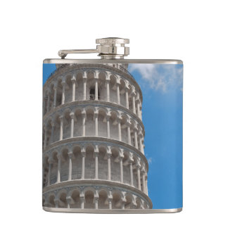 Leaning Tower of Pisa in Italy Hip Flask