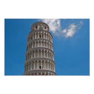 Leaning Tower of Pisa in Italy Poster