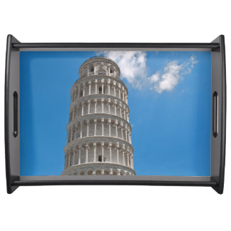 Leaning Tower of Pisa in Italy Serving Tray
