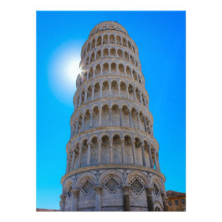 Leaning Tower of Pisa Personalized Announcements