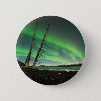 Leaning Tree Aurora 6 Cm Round Badge