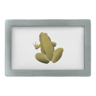 Leap Frog Rectangular Belt Buckle