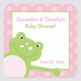 Leap Frog Square Favor Stickers (6 Large)