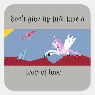 Leap of Love Square Sticker