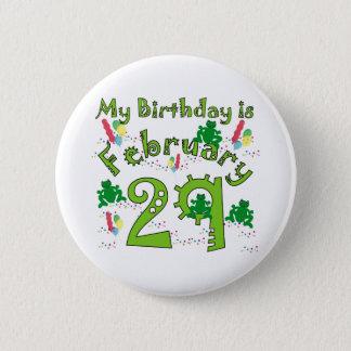 Leap Year Birthday 6 Cm Round Badge