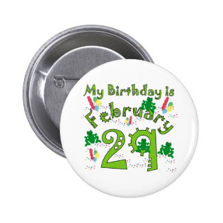Leap Year Birthday 6 Cm Round Badge