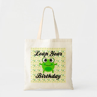 Leap Year Birthday, Cute Frog Budget Tote Bag