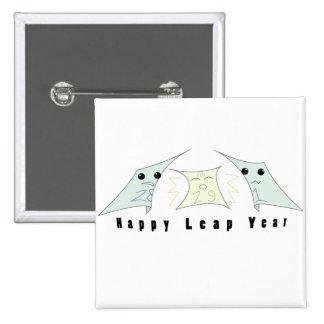 leap year celebration! 15 cm square badge