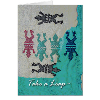 Leap Year Day Greeting Card, Frogs and Water Greeting Card