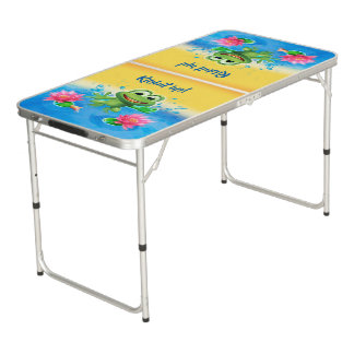 Leapfrog ping pong beer pong party table