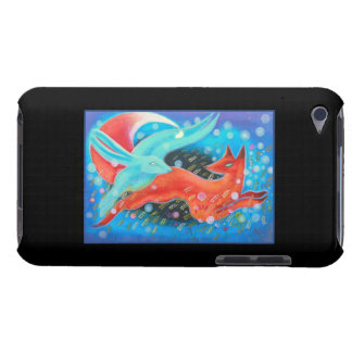 Leaping Animals, a Fox and a Hare. Case-Mate iPod Touch Case