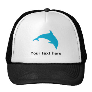 Leaping Blue Dolphin Silhouette Cap