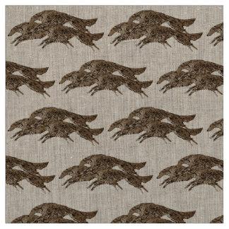Leaping Borzoi Fabric