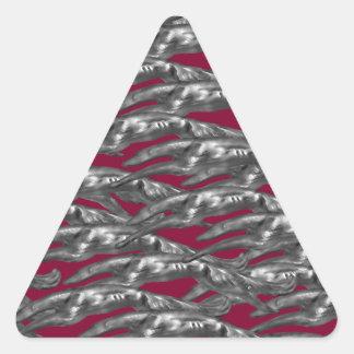 Leaping Borzoi Triangle Sticker
