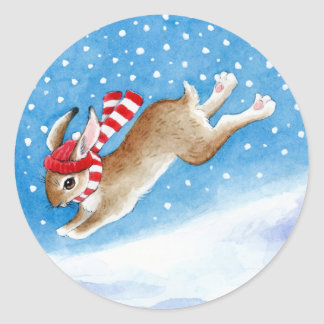 Leaping Bunny stickers