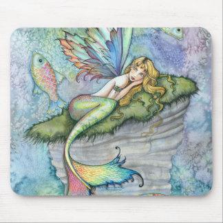 Leaping Carp Mermaid Fish Mousepad