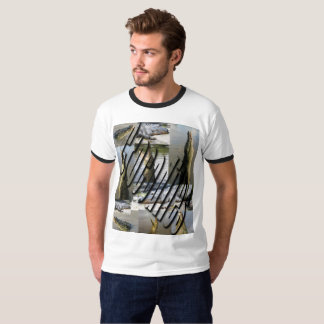 Leaping Crocodiles Photo Collage Mens T-shirt. T-Shirt
