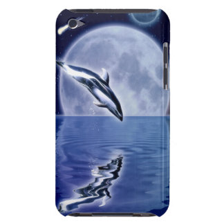 Leaping Dolphin and Moon Fantasy Art iPod Touch Case