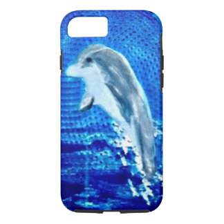 Leaping Dolphin Art iPhone 7 Case