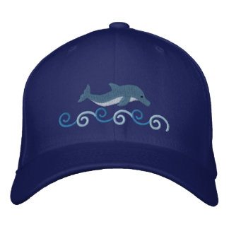 Leaping Dolphin Embroidered Hat