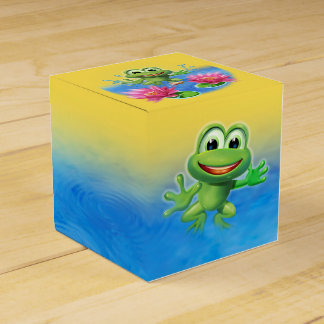 Leaping Frog birthday party cake and favor boxes Wedding Favour Box