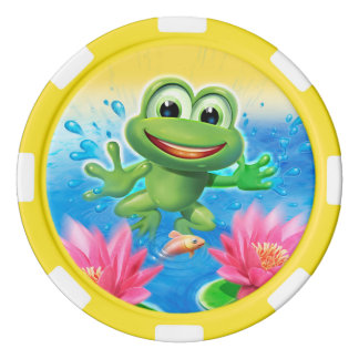 Leaping Frog birthday party game tokens Poker Chips