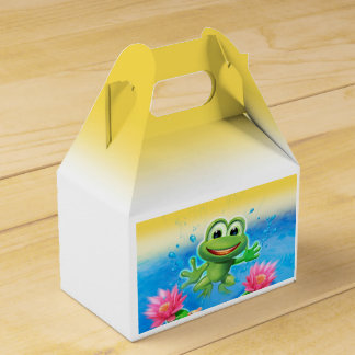 Leaping Frog birthday party take-away box Party Favour Boxes