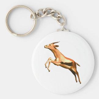 Leaping Gazelle Keychain